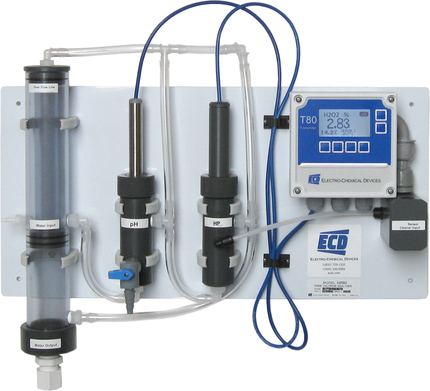 Hydrogen Peroxide Analyzer - HP80 - Electro-Chemical Devices